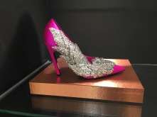 Swarovski crystal encrusted pink pumps. So practical getting in and out of the matte finished Rolls.